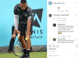Tennis star pays for goading Kyrgios