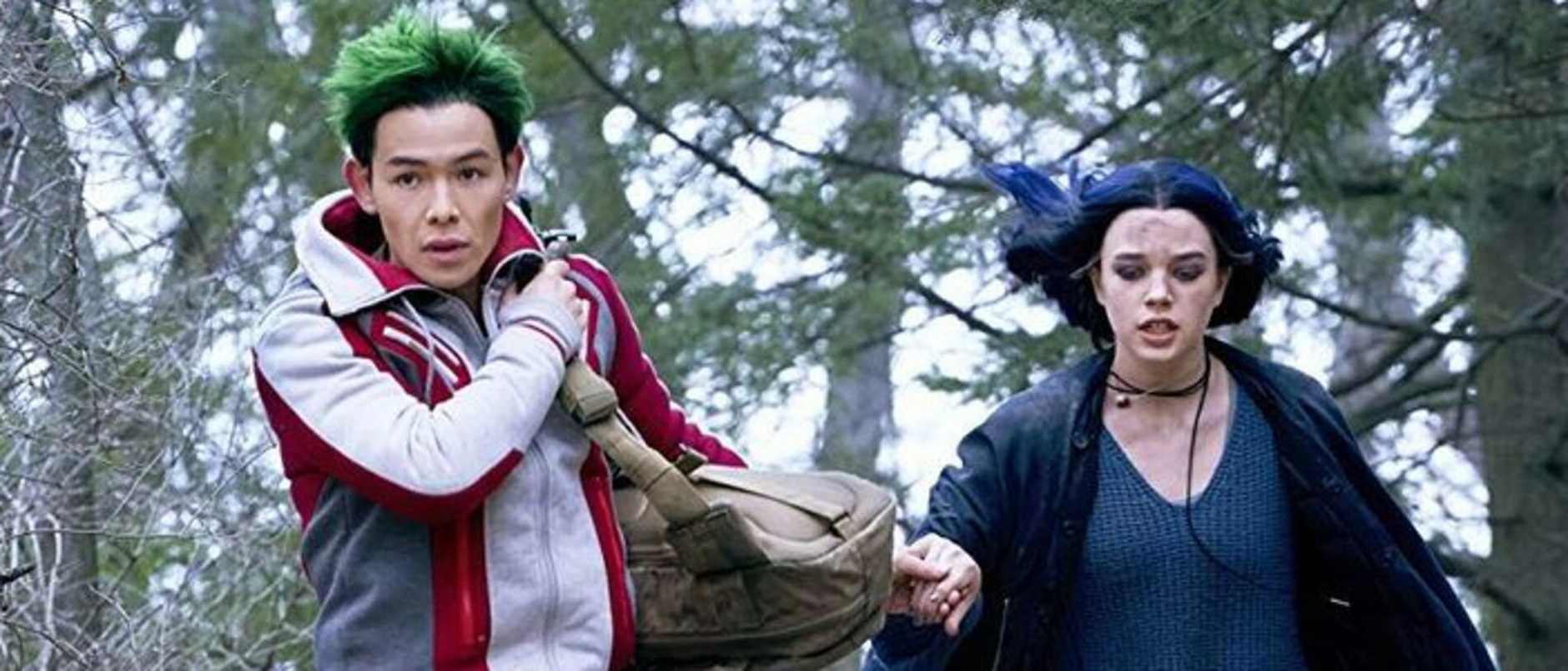 Actors Ryan Potter and Teagan Croft in a scene from Titans.