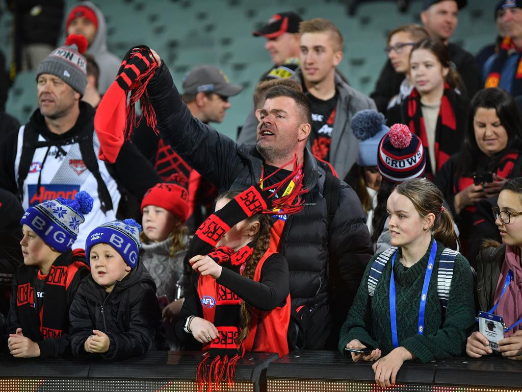 Essendon supporters had reason to cheer. Picture: David Mariuz/AAP