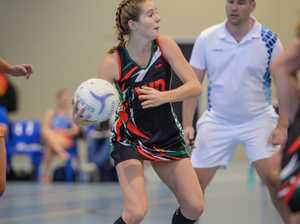 Jaymee Ericson playing Wing Defence for Hervey Bay