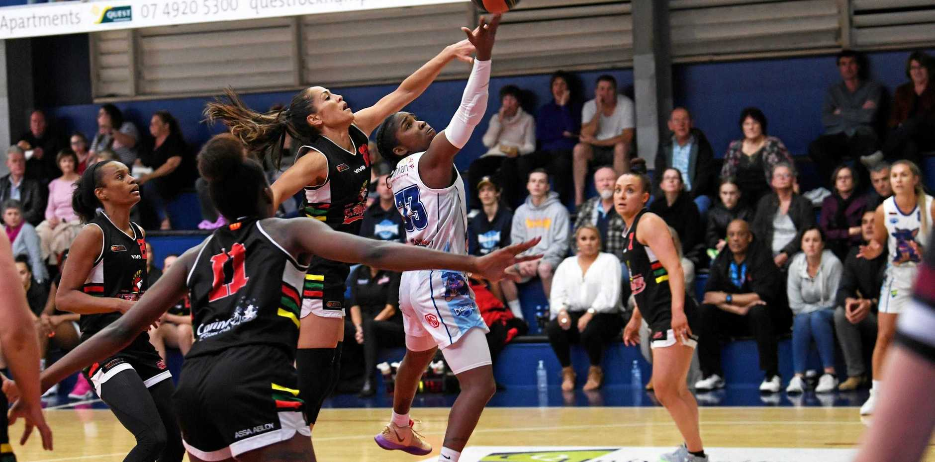 STARRING ROLE: Point guard Jess Thomas was a tower of strength for the Rockhampton Cyclones in their game against competition frontrunners, the Southern District Lady Spartans, on Friday night.