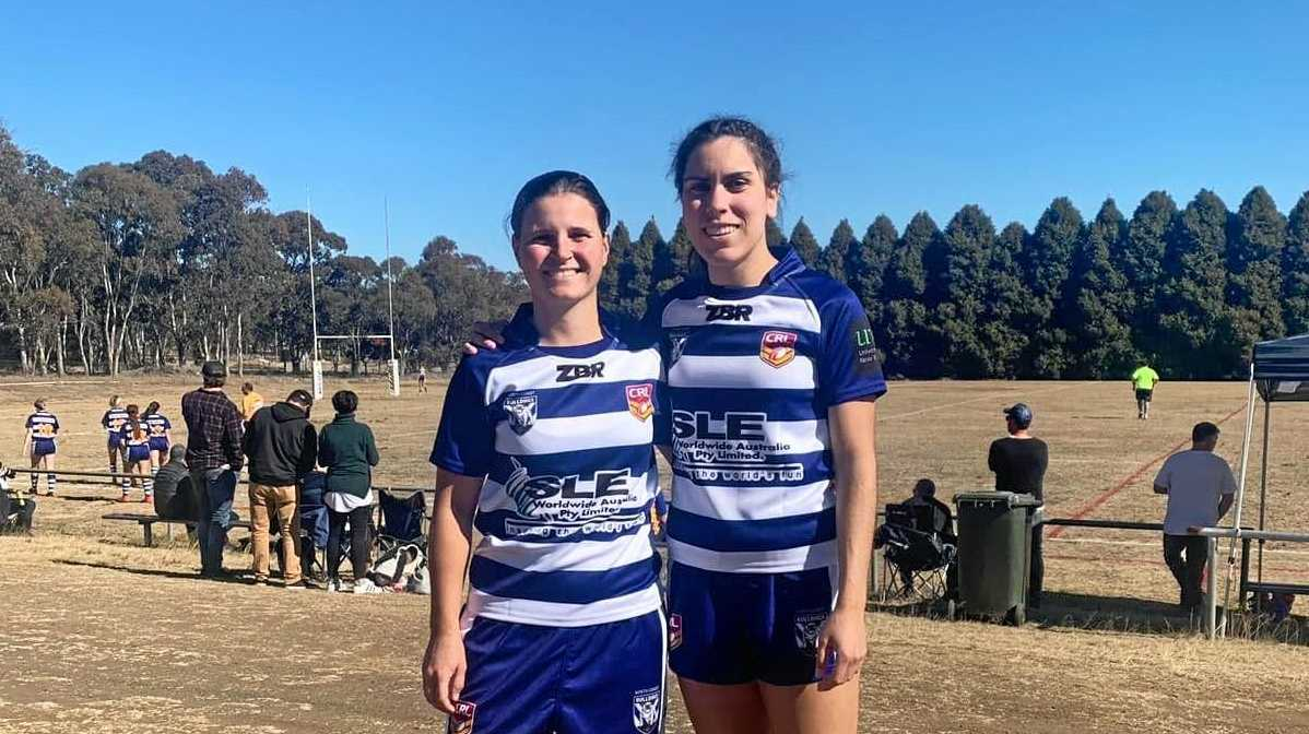 REPRESENTATIVES: Elle Moss and Mekeely Heron at the League Tag Championships in Glen Innes on Saturday.