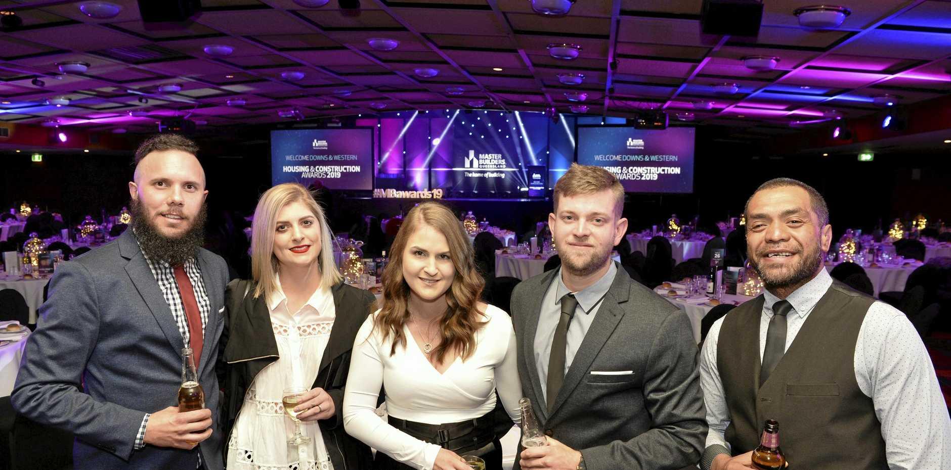 Representing Northbuild are (from left) Jared Davidson, Samantha Davidson, Rebecca Beadman, Karl Bambosek and Eli Kanuta.