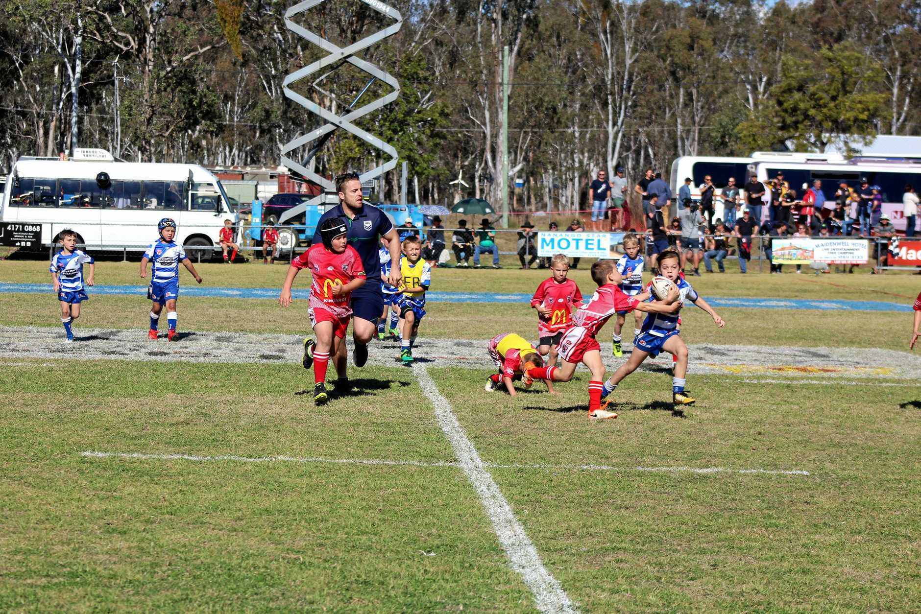 JUNIORS WIN: Young players were some of the biggest winners from Nanango's Intrust Super Cup game.