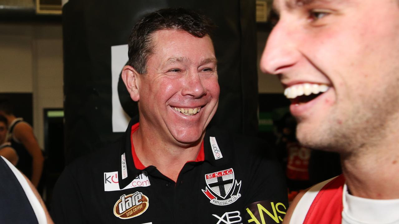 Brett Ratten was all smiles after his side's win. Picture: Getty Images