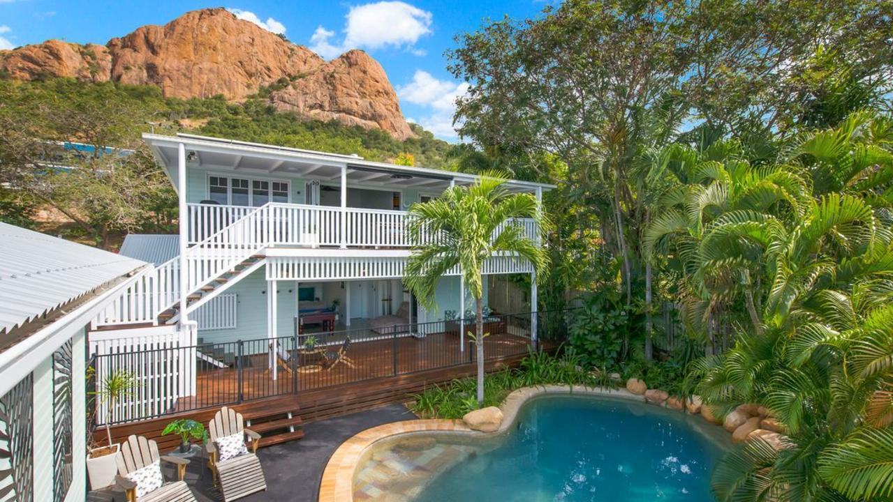 This two-storey home with tropical pool at 329 Stanley Street, North Ward, is for sale for $1.22 million.