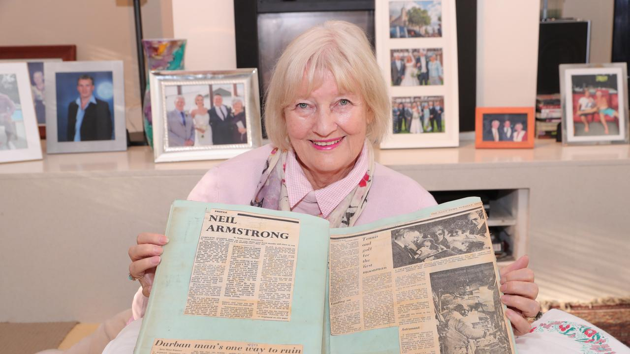 Marilynne Dornan (nee Holloway) was a junior reporter when she scored a casual interview with Neil Armstrong in South Africa. Picture Glenn Hampson