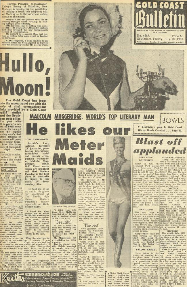 Gold Coast Bulletin 1969, July 18. Front page.