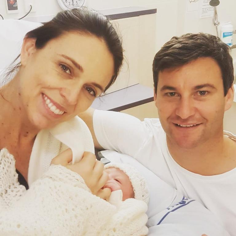 Ardern revealed daughter Neve was a 'very strong willed' girl, a trait she gets from both herself and fiance Clarke Gayford. Picture: Instagram/Jacinda Ardern