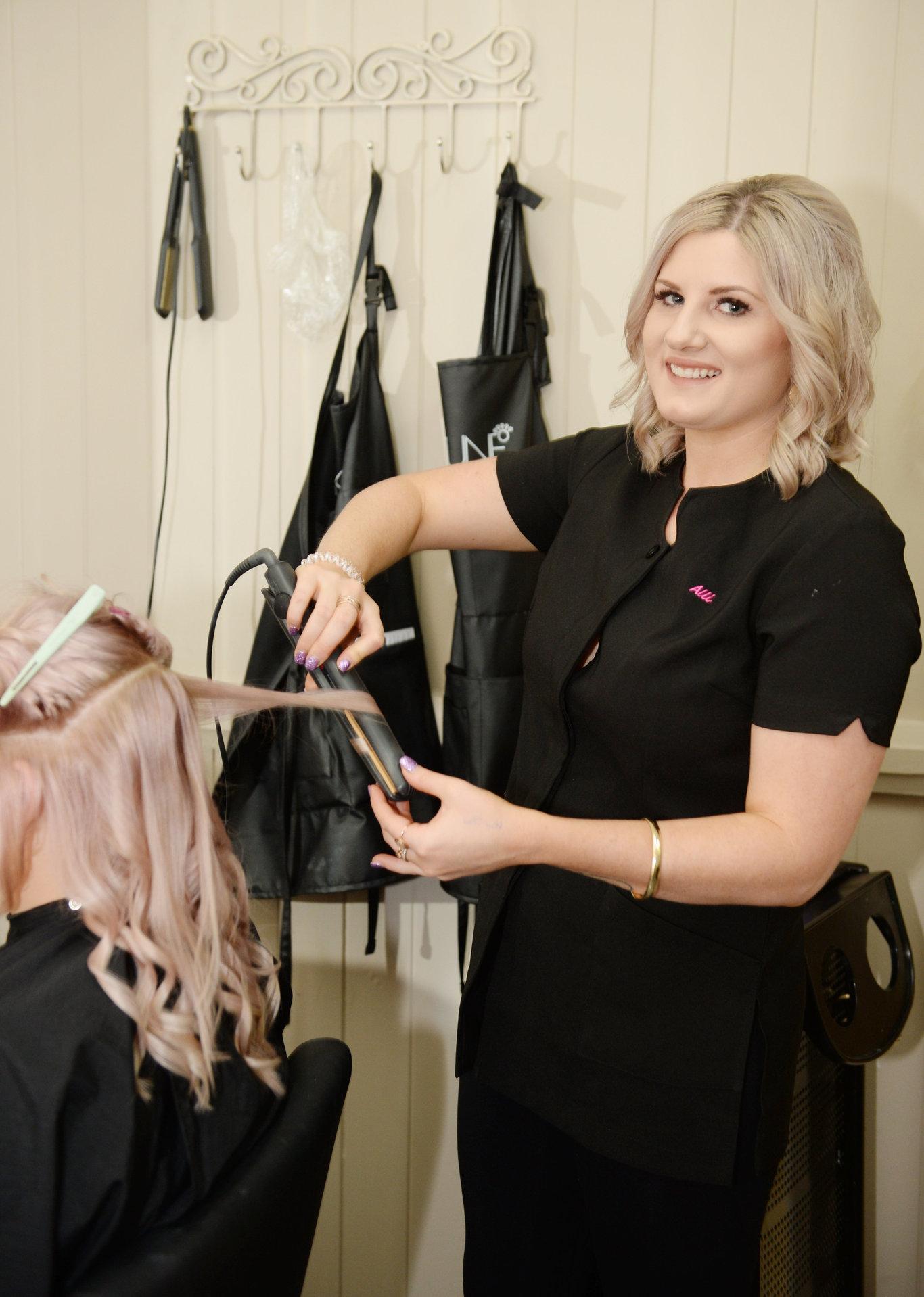 Hairdresser Alli Hopkins.