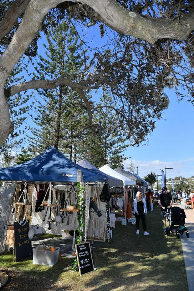 Image for sale: People enjoying the Sunshine Coast Collective Markets at Alexandra Headland.