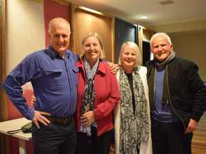 Playwright Hugh O'Brien and his wife Glenda O'Brien