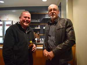 Ray Gray and John Keam at the Miles Regional Art