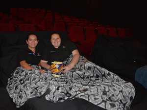 Gladstone Cinemas staff Joanne Tierney and Samantha