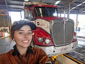 TRAILBLAZER: First woman on the tools at Lindsay Transport
