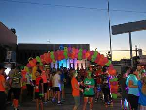 Glow running for a great cause