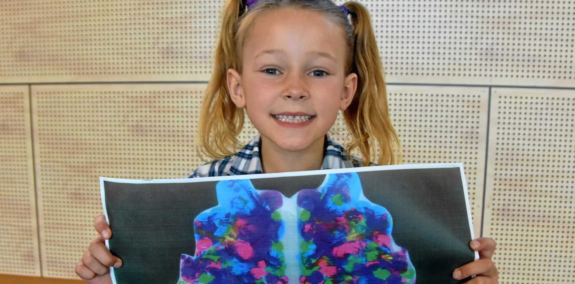 CREATIVE: Peregian Springs State School Year 1 student Bella Donnelly recently won first place in an Australia-wide art competition inspired by the human brain.