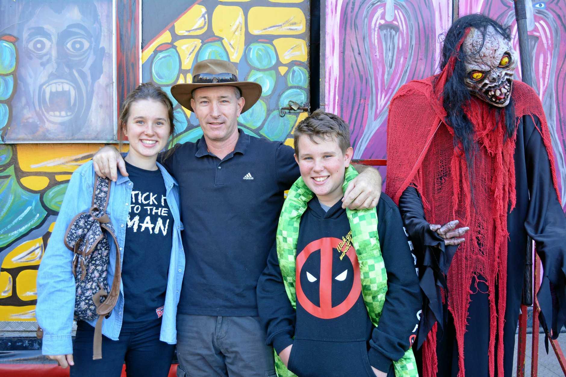 Tabitha, Steve and Rhys Potts.