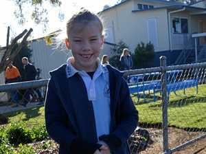 BACK TO SCHOOL: Children grateful to walk back through gates