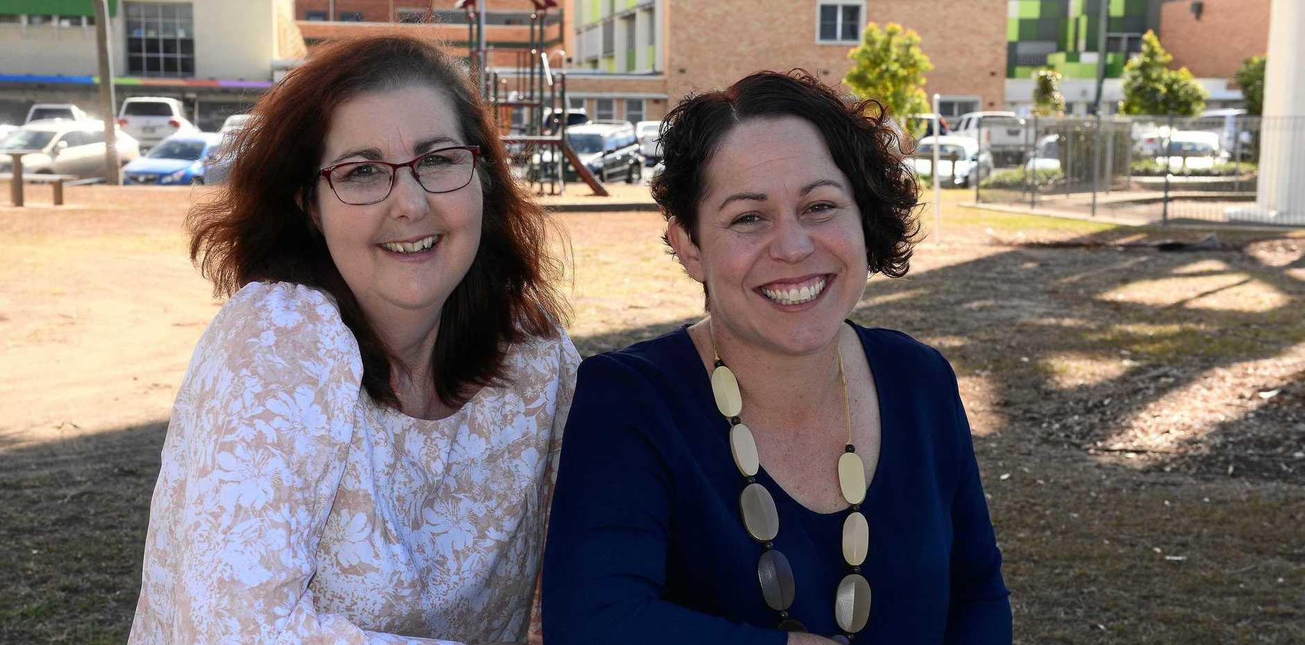 SECOND CHANCE: Kidney transplant recipient Michelle Halpin with acting organ donation specialist nurse Karen Jenner.