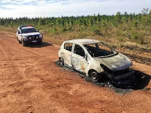 CAR FIRE: Stolen vehicle found burned out near Howard