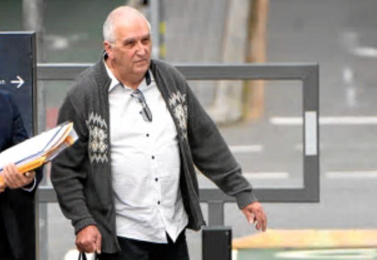 Former Brisbane teacher Peter Matthew Malone arrives at the District Court in Brisbane on Thursday.