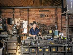 Eoin McSwan's blacksmith shed on market