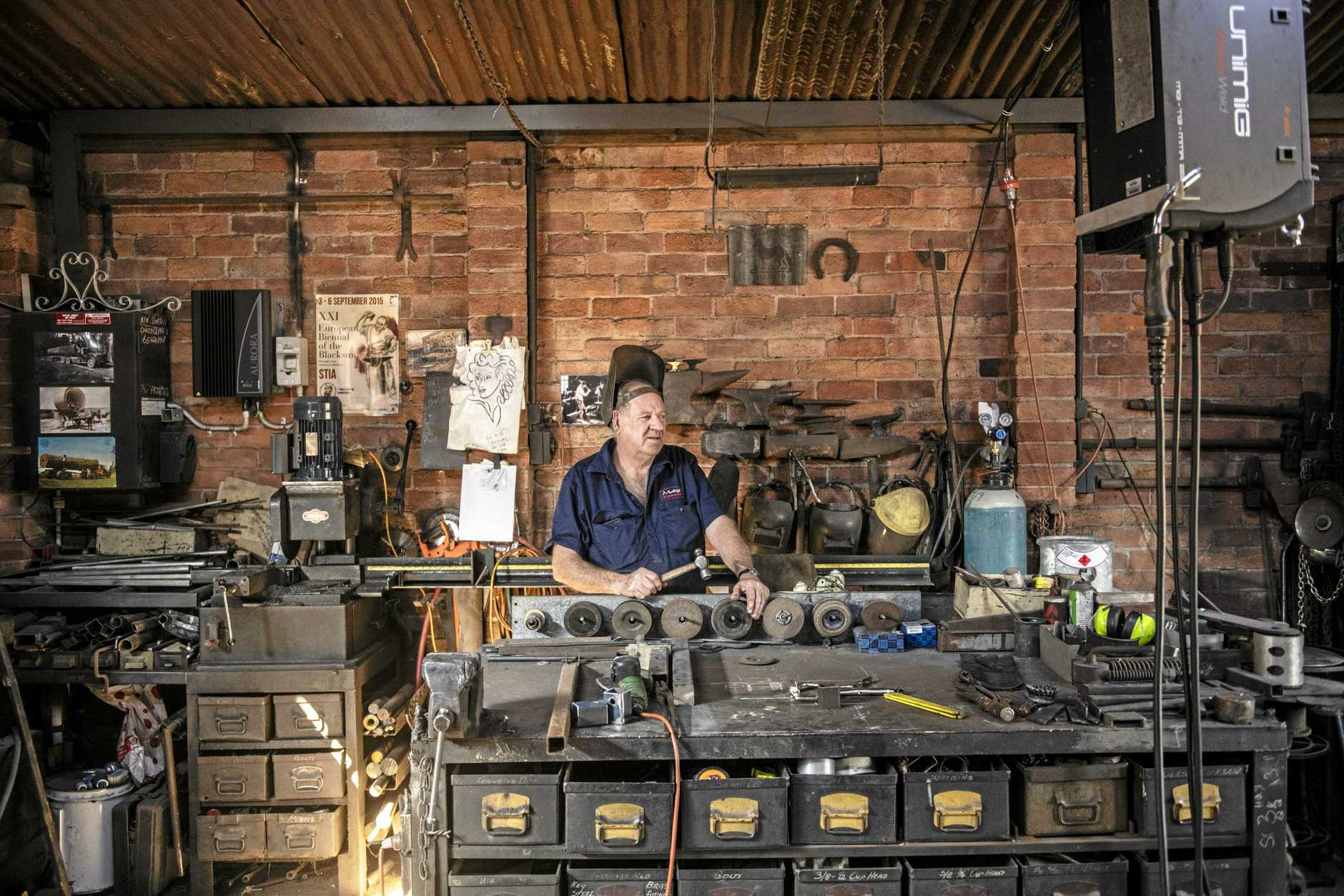 Take a look inside Eoin McSwan's blacksmith shed.