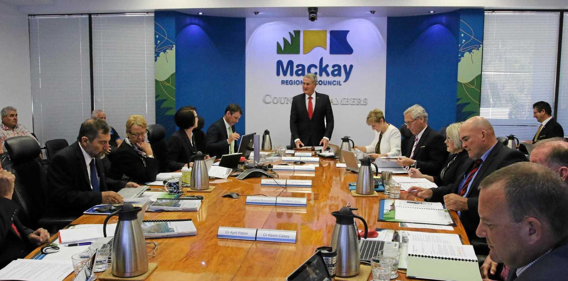 Mackay Regional Council's 2019 budget meeting.