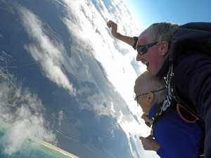 EPIC VIDEO: 76yo Gympie nana jumps out of a plane
