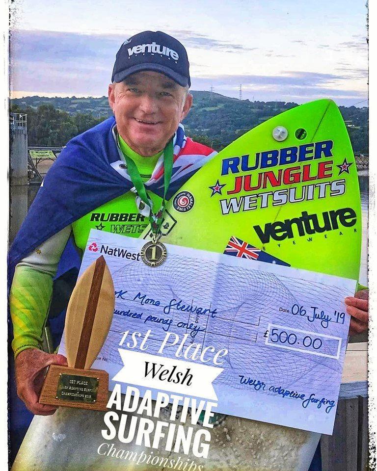 ADAPTIVE: Mark Mono Stewart has continued on his winning ways.