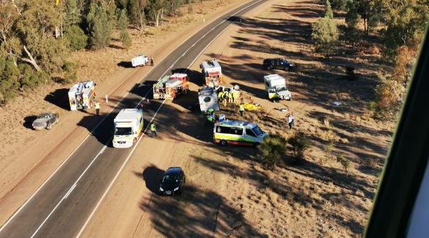 Man, woman 'critical' after caravan rollover in south-west