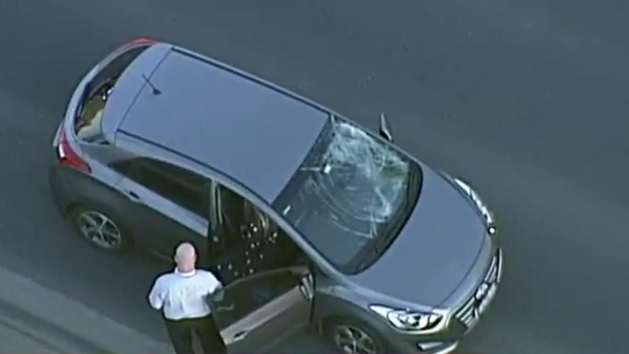 7NEWS stills of a teenager hit by a car and killed on Ringwood Bypass.