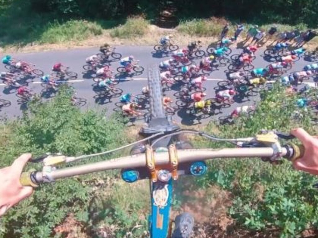 A bird's eye view of the Tour de France.