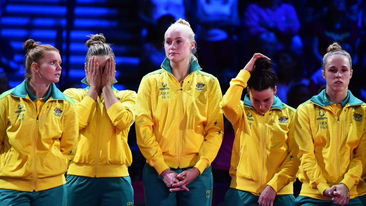 Dejected Diamonds after the loss. Picture: Getty