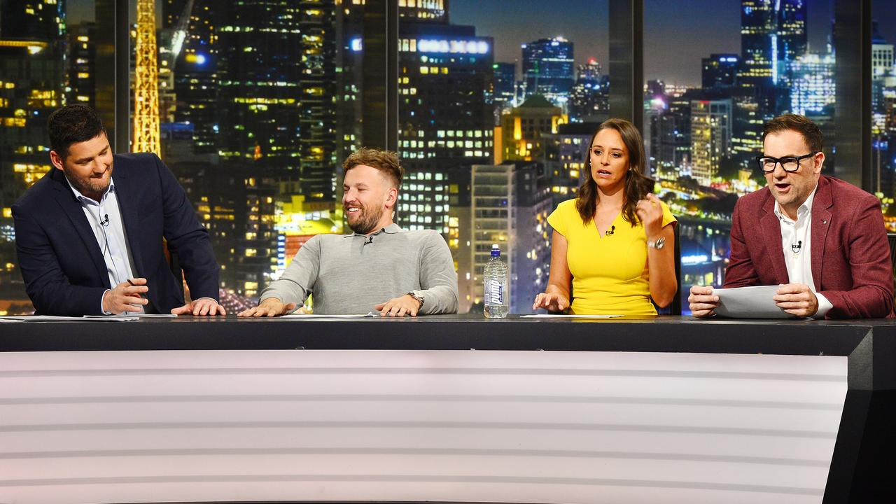 The 2019 Footy Show failed to resonate with viewers. Picture: Nicki Connolly