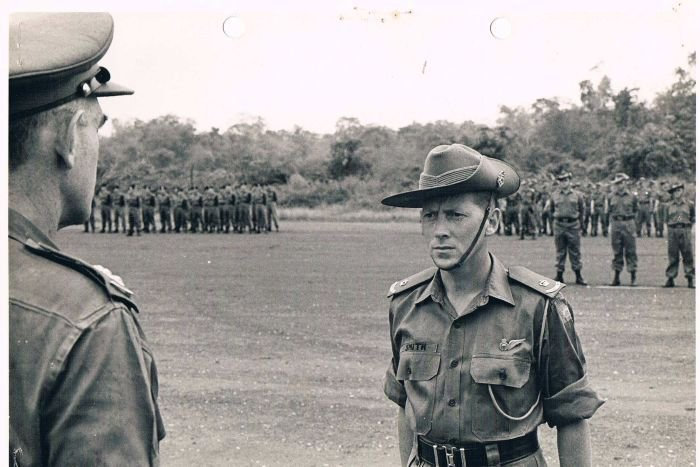 Lieutenant Colonel Harry Smith was presented the Military Cross in 1967 after leading D Company, 6RAR, in the Battle of Long Tan, South Vietnam, August 18, 1966.