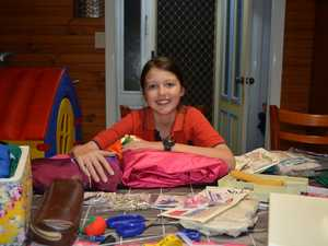 Lilly-Anne Alaban has taken up sewing and is busy