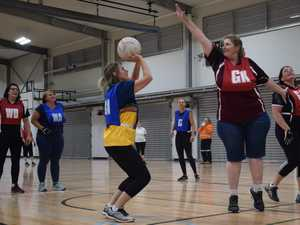 Women in action at Walking Netball 23 July 2019