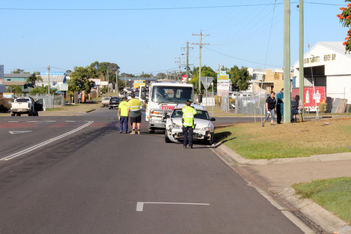 Paramedics are at the scene of a three-car crash in Pialba.