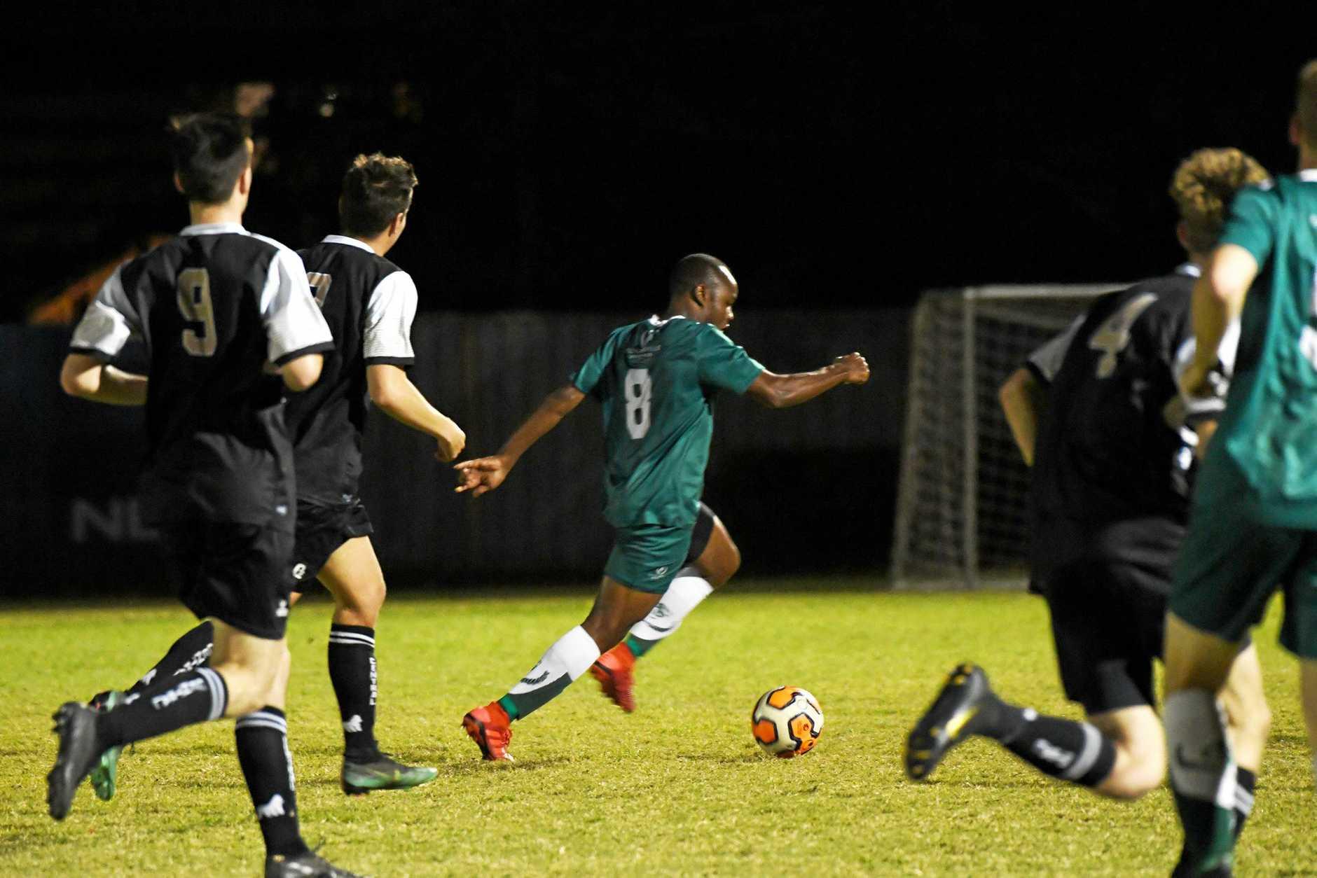 Soccer: Frenchville's Simon Mcanthony.