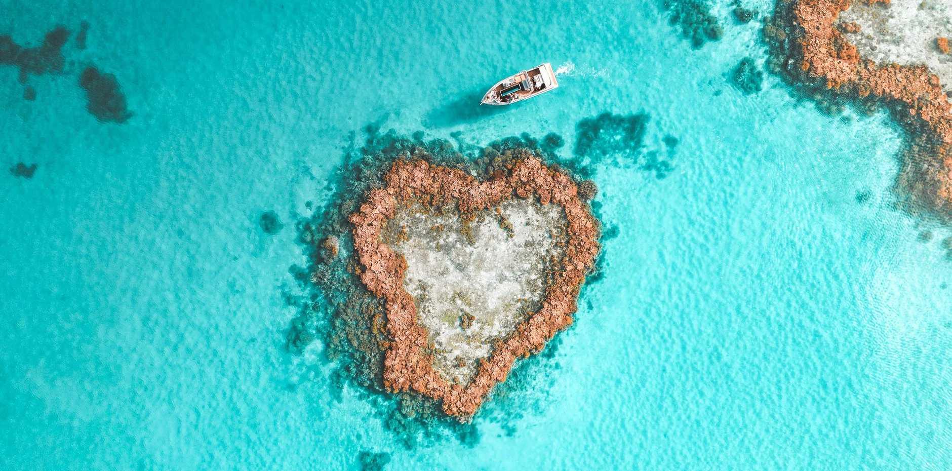 The iconic Heart Reef lagoon.