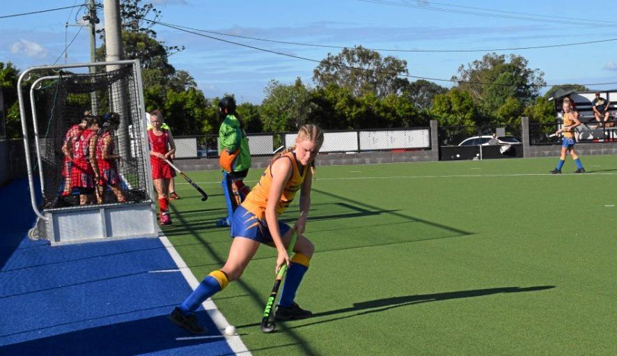 Piper Treeby plays striker.