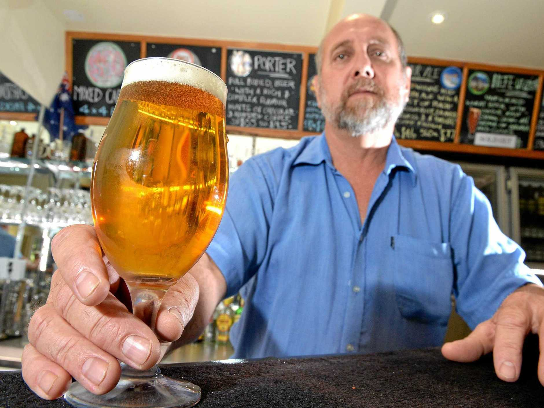 Sunshine Coast Brewery owner Greg Curran reckons the tax hike will cost his business
