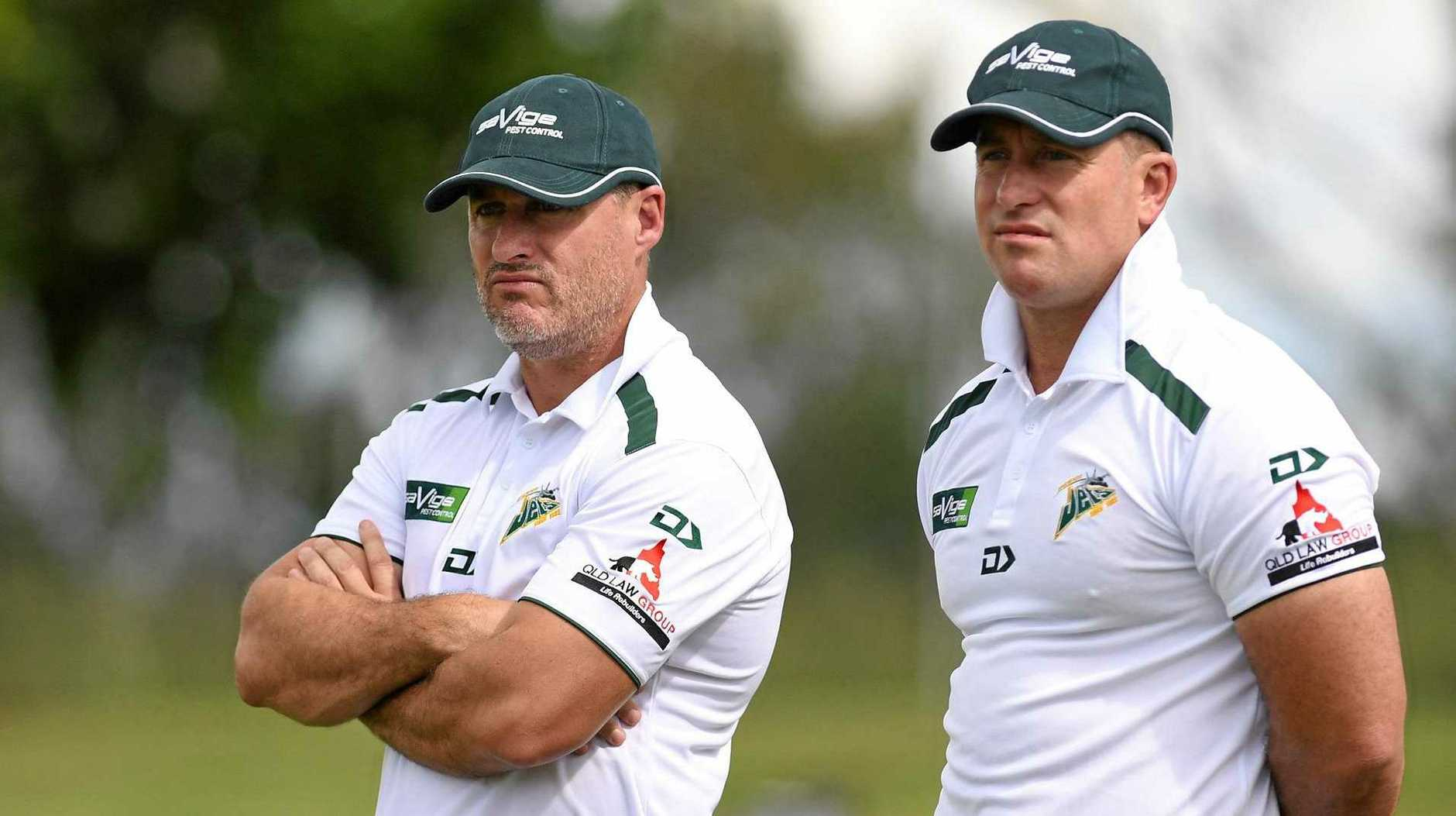 NRL PROSPECTS: Ipswich Jets co-coaches Ben and Shane Walker.