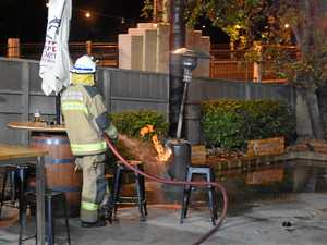 Pub fire: Patrons flee beer garden after fire ignites