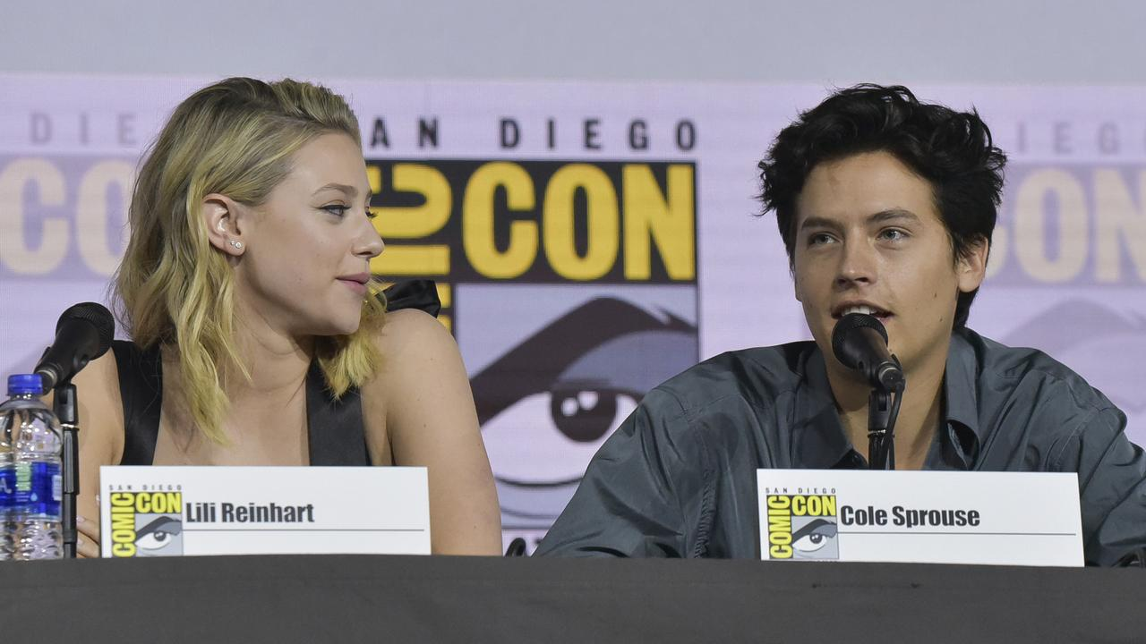 Reinhart and Sprouse at this year's Comic-Con. Picture: Richard Shotwell/Invision/AP