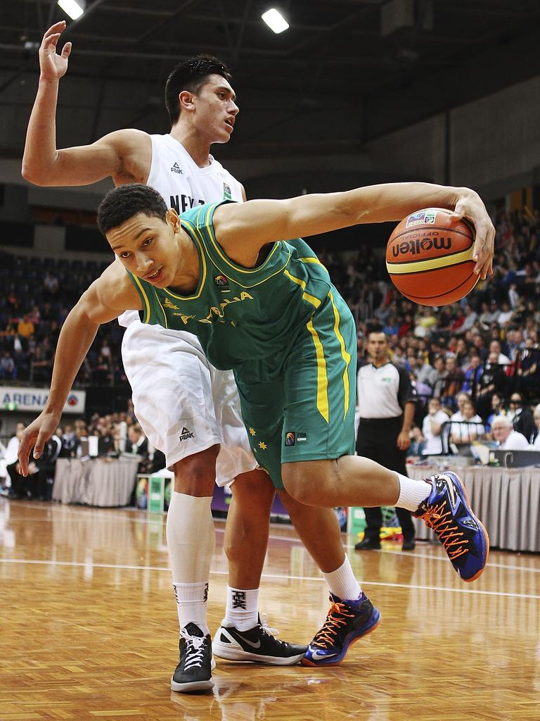 Ben Simmons in action for the Boomers. Picture: Getty