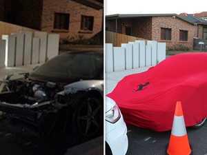Salim Mehajer's $300,000 Ferrari in ruins