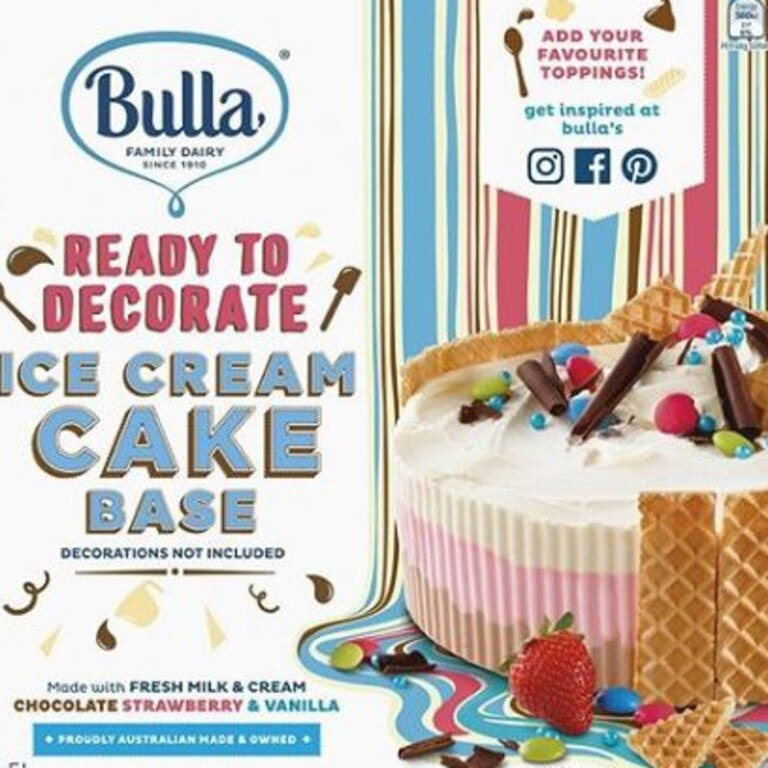 The Bulla ready to decorate cake base has been recalled.